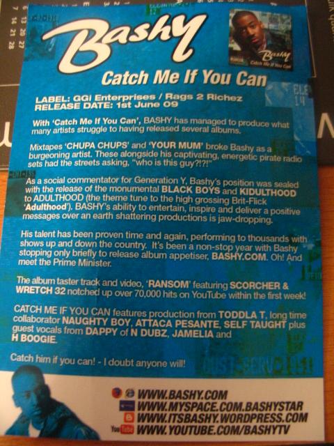 Bashy (back of promo flyer)