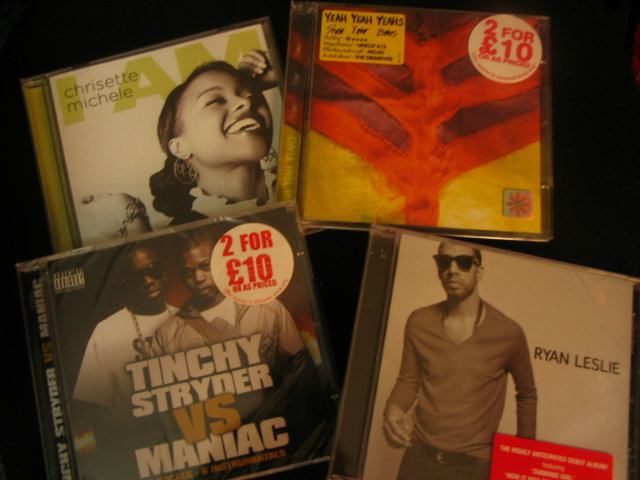 chrisette michele, yeah yeah yeahs, tinchy stryder vs. maniac and ryan leslie