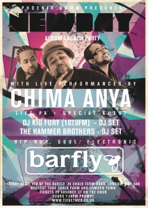 Chima Anya's album launch party flyer